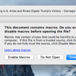Macro Malware for Mac Users Now
