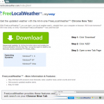 Remove FreeLocalWeather Toolbar From System