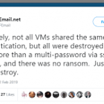 An unknown hacker manage to hack VFEmail servers data, including the backups